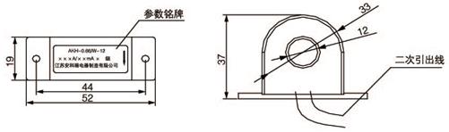 安科瑞,测量型电流互感器,AKH-0.66-40I,额定电流比10-75/5A示例图26
