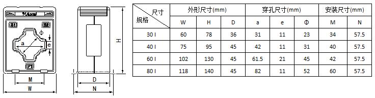 安科瑞,测量型电流互感器,AKH-0.66-40I,额定电流比10-75/5A示例图16