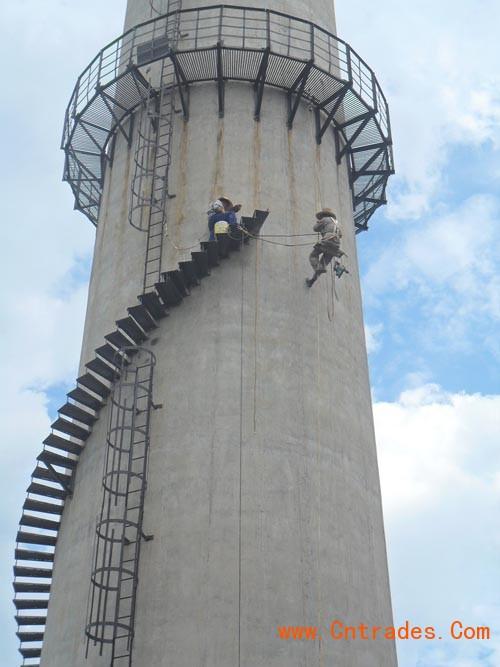 自贡市砖烟囱专业人工拆除,专业人工拆除砖烟囱示例图8