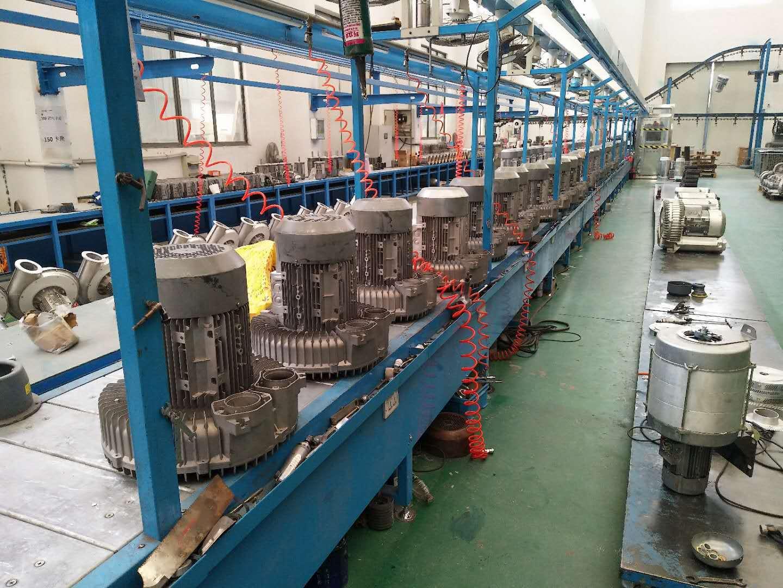 直销上海全风CX-75H鼓风机/集尘机 功率0.75KW 耐高温中压鼓风机示例图6