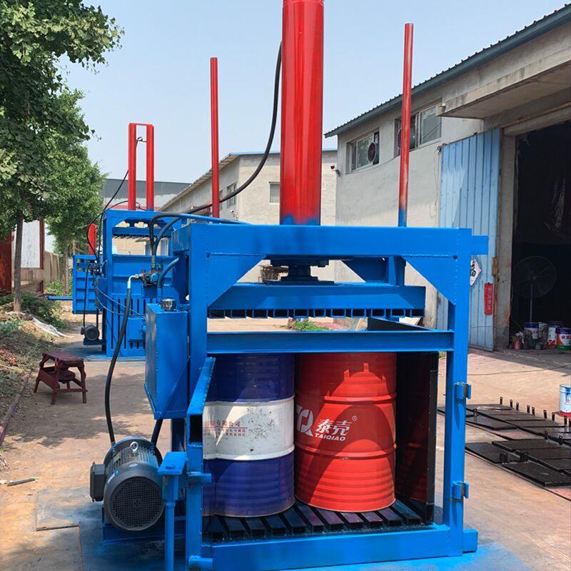 废纸专用液压打包机 60吨油漆桶压扁机厂家 200L油漆桶压扁机示例图9