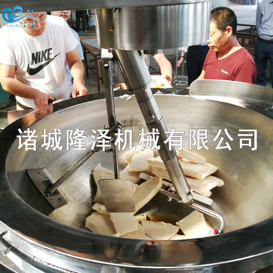 隆泽全自动大型多功能炒菜机 工厂食堂用炒菜机 易清洗示例图7