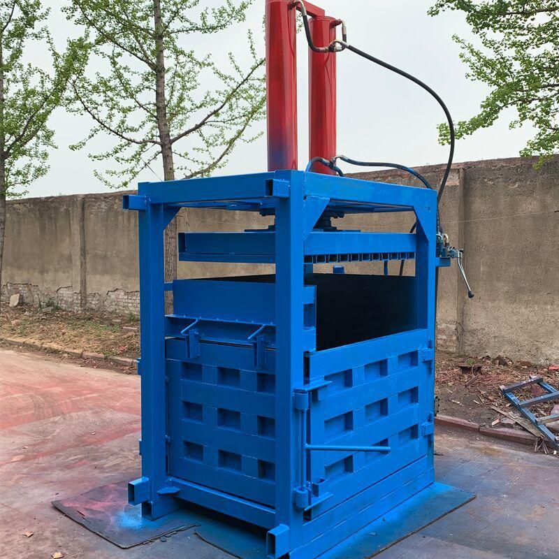 废纸专用液压打包机 60吨油漆桶压扁机厂家 200L油漆桶压扁机示例图14