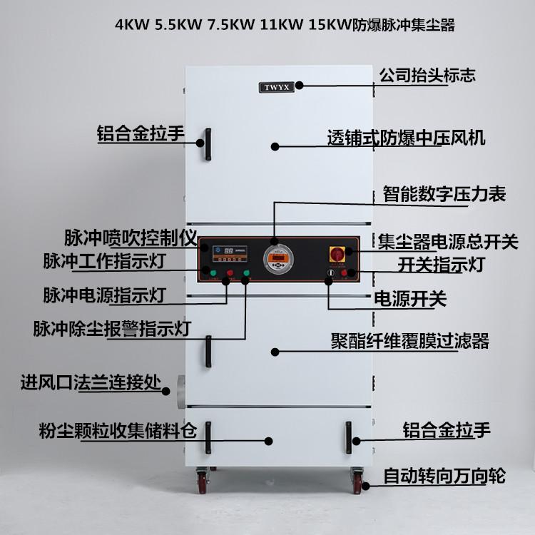五金打磨环保吸尘器 除锈打磨机吸尘器 MCJC-15工业脉冲集尘机示例图5