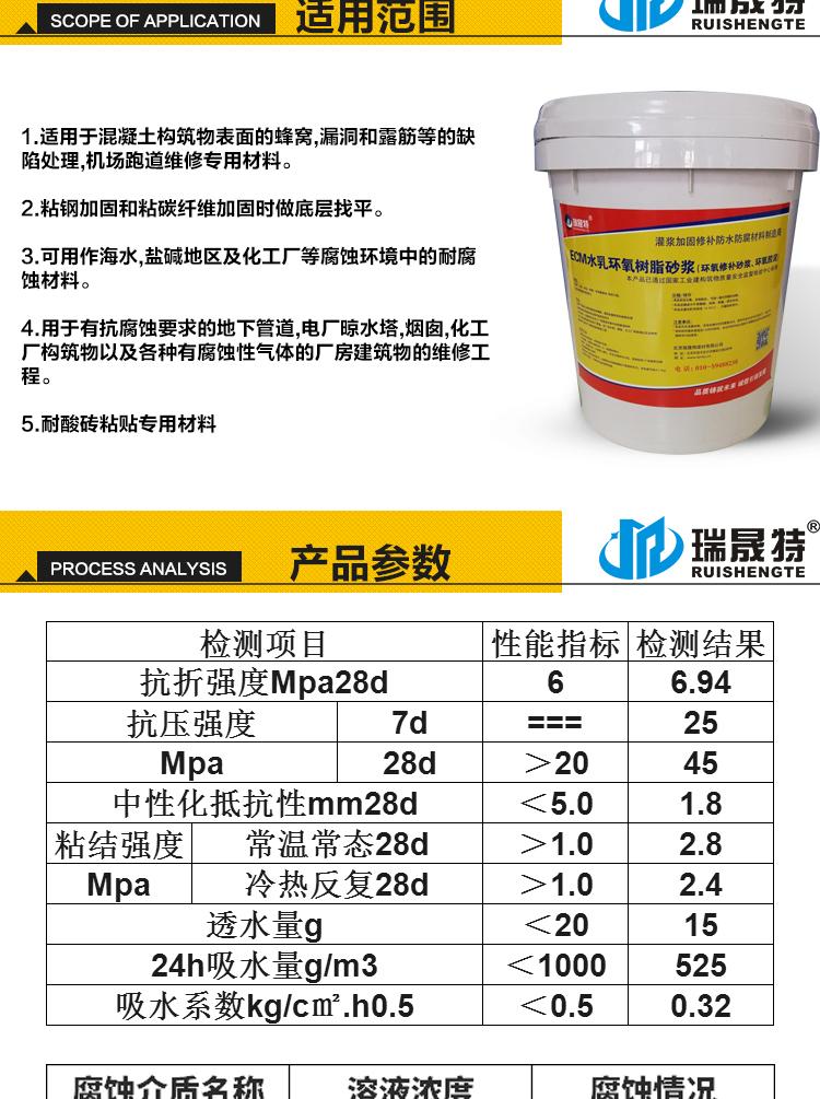 北京瑞晟特环氧胶泥厂家销售 ,环氧砂浆,修补砂浆价格示例图1