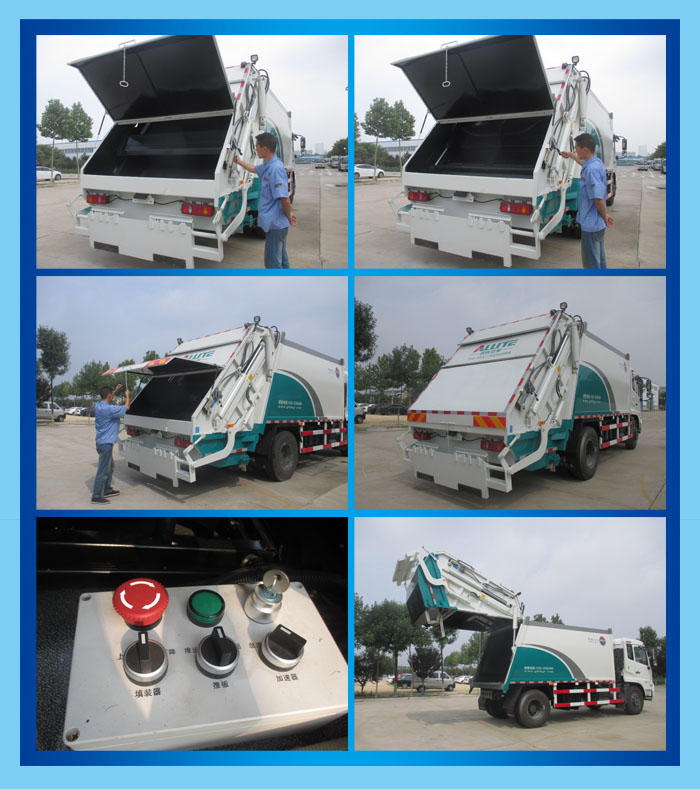 东风多利卡8方压缩式垃圾车,垃圾清运车,垃圾挤压清运车,厂家直销,大量现货,超低价格示例图10