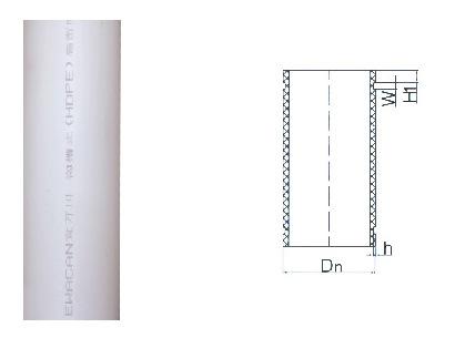 沟槽式HDPE超静音排水管,hdpe沟槽管材,PE管,宜万川沟槽管示例图7