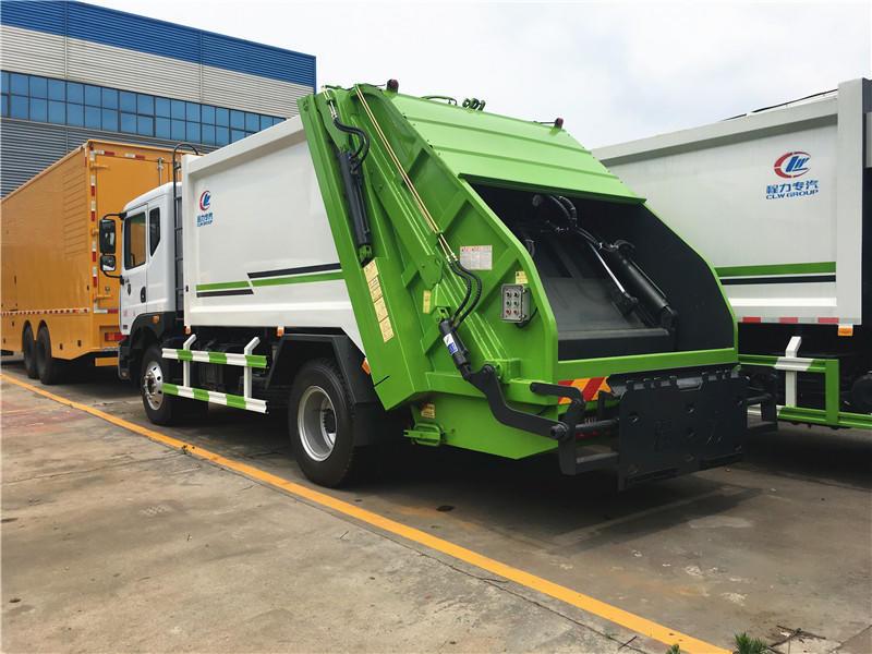 东风多利卡D9压缩式垃圾车12方,垃圾清运车,垃圾挤压箱运车,最新优惠价格联系我们示例图8