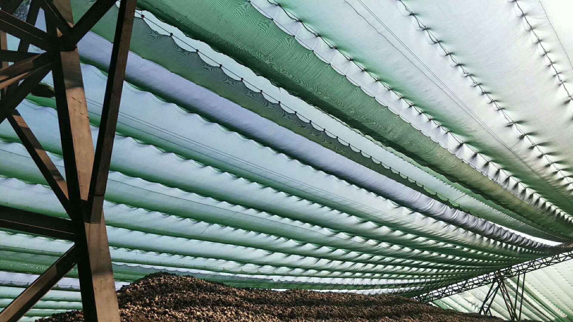 尼龙柔性防风网,防风屏障,煤场挡风墙,煤场防风防尘屏障示例图17