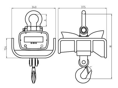 耐高温吊秤 浇铸冶金行业隔热电子吊钩秤 称铁水包吊磅示例图2