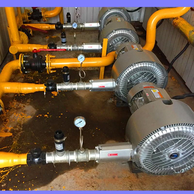 直销 农村污水一体化曝气高压风泵 污水处理净化专用曝气高压风机示例图7