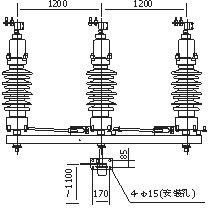 四川35KV户外柱上高压隔离开关GW4-40.5示例图5