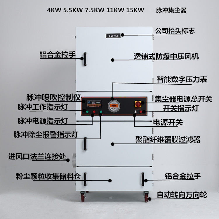 磨床粉尘吸尘器 磨床除尘器 磨床吸尘器 金属粉尘吸尘器示例图34