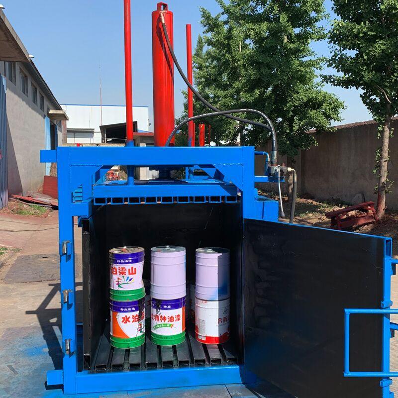 废纸专用液压打包机 60吨油漆桶压扁机厂家 200L油漆桶压扁机示例图18