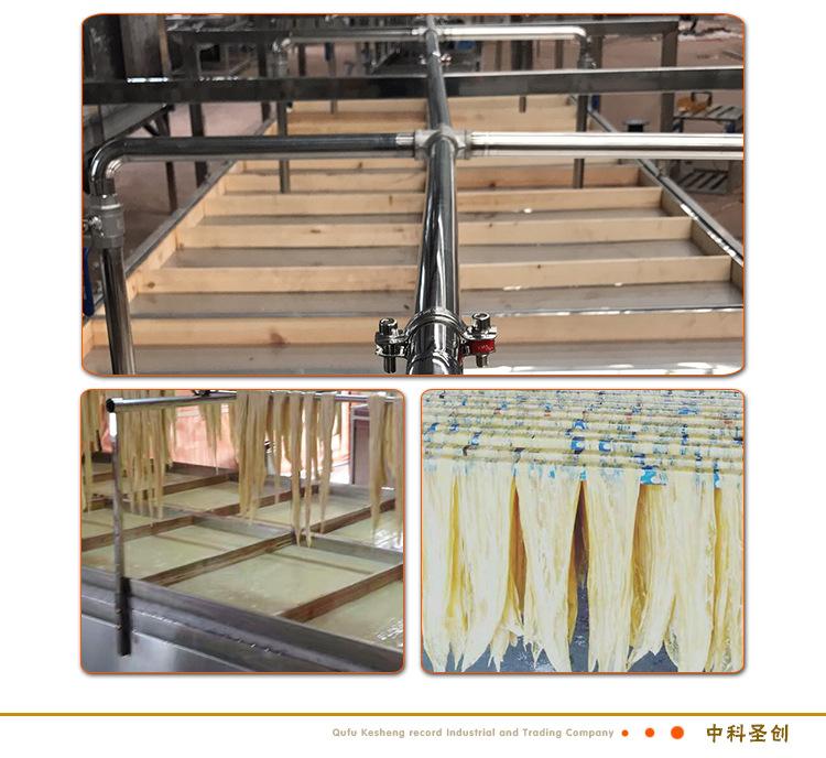 多种型号不锈钢腐竹成型锅铝水槽 半自动腐竹机设备生产线价格示例图7