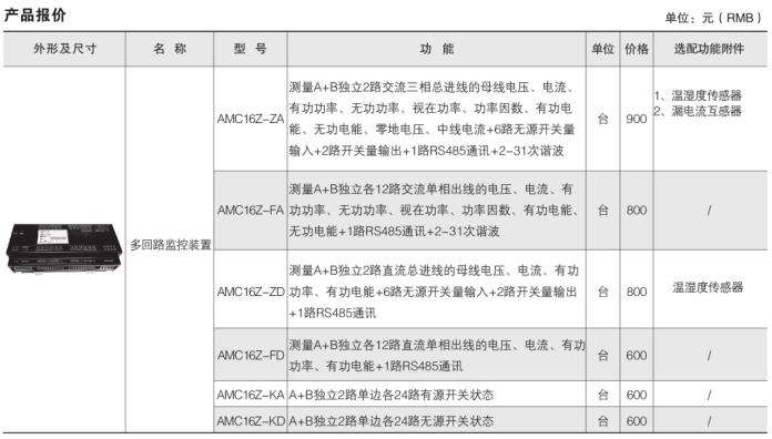 安科瑞AMC16Z-KA(D)多回路监控装置,量大从优示例图20
