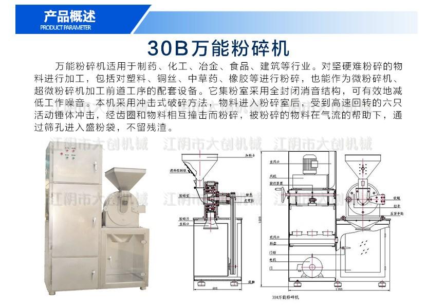 除尘万能粉碎机,白糖粉碎机,齿盘粉碎机示例图2