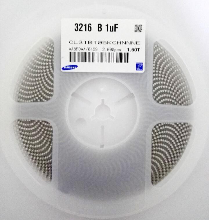 高压电容 1206 100V  1UF K X7R  CL31B105KCHNNN 1206电容示例图2