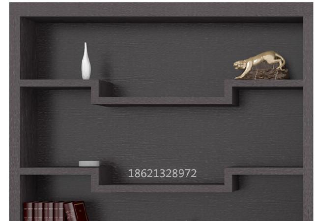 供应办公书柜文件柜  时尚黑橡木色四门书柜