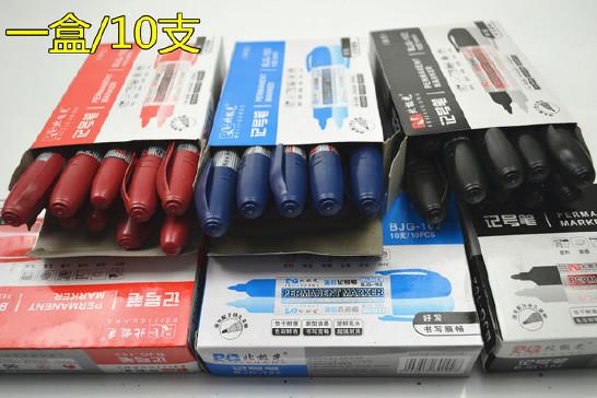 黑色蓝色红色防水油性记号笔大头笔耐用可加墨水正品记号笔批发示例图15