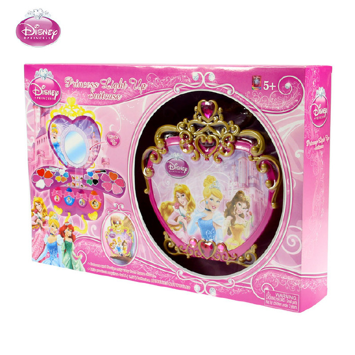 迪士尼儿童化妆品彩妆盒套装公主仿真手提化妆