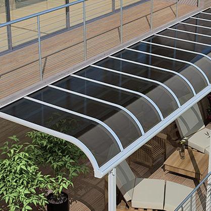 新型歐式弧形鋁合金過道遮陽棚