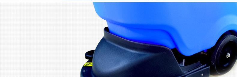电瓶式洗地机 手推式工厂车间洗地机 用无线拖地机示例图10