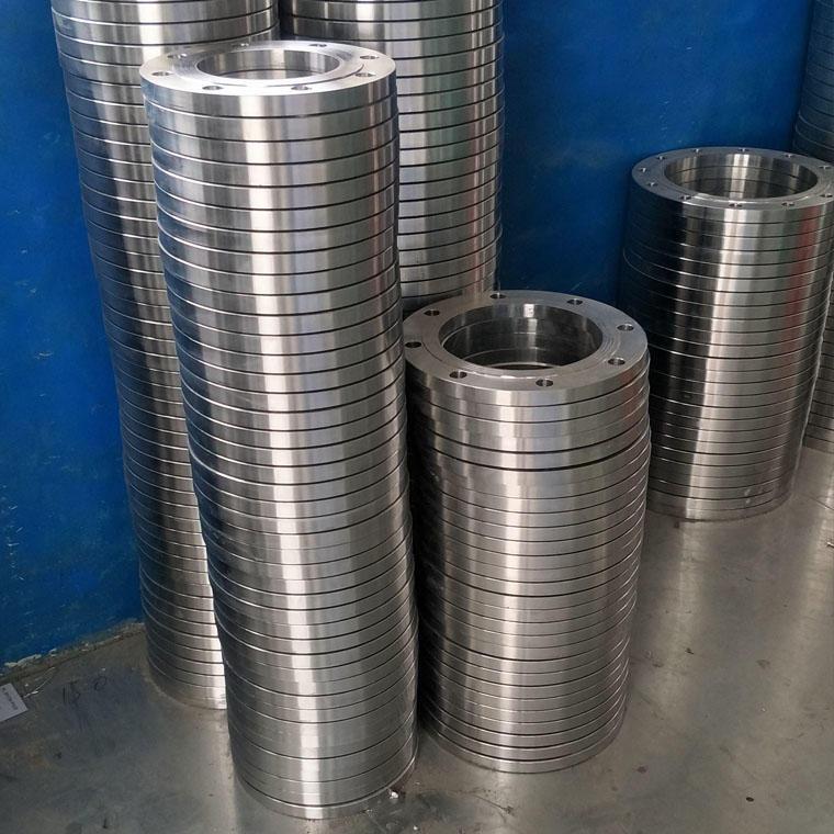 不銹鋼帶頸大口徑法蘭 不銹鋼對焊法蘭 304不銹鋼法蘭定制加工鑫良諾DN100圖片