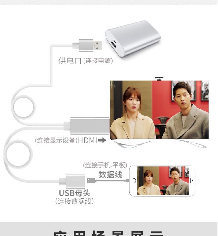 手机连接电视投影仪安卓苹果转hdmiiPhoneiiphone4g耗电图片