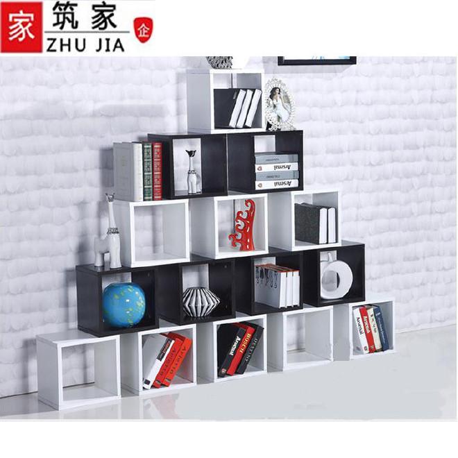 包邮环保格子小书柜简约现代书柜自由组合简约书柜书架创意