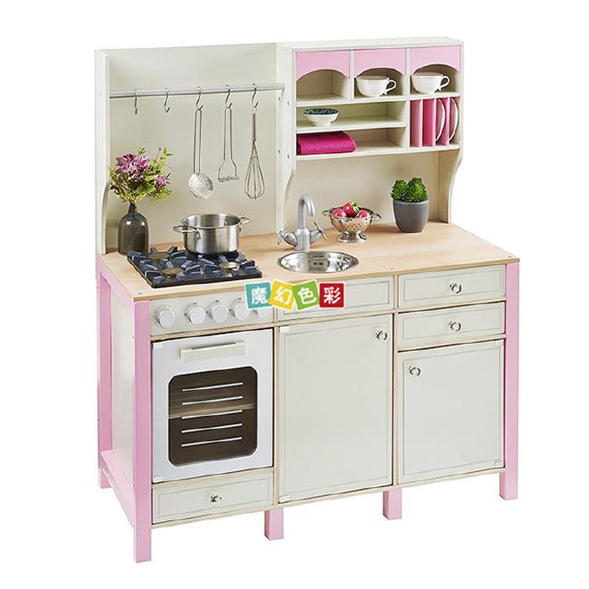 爆款儿童仿真厨房玩具带厨房柜子灶台套装功能齐全