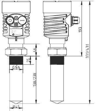 浆料储罐雷达液位计 耐腐蚀雷达物位计 棒式雷达料位计示例图2