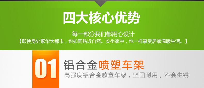 包邮上海互邦电动轮椅HBLD4-E轻便可折叠老年残疾人代步车家用示例图24
