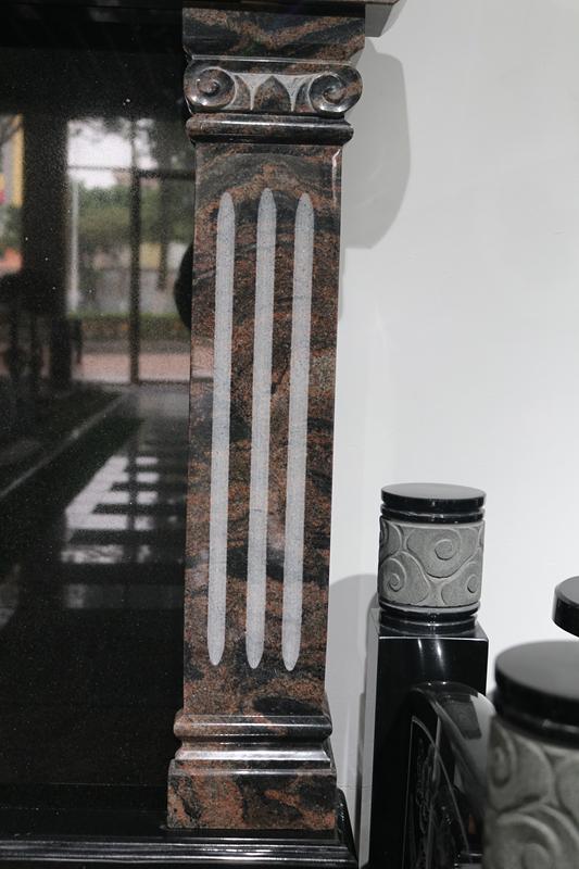 定制墓碑豪华碑山西黑墓碑艺术墓碑陵园碑广东墓碑厂家直销示例图4