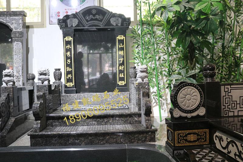 厂家批发福建豪华墓碑英国棕墓碑山西黑碑石可出口内销品质一流示例图1