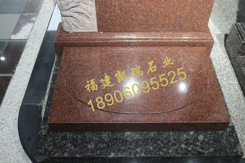 四川墓碑工厂批发直销印度红墓碑 艺术墓碑 小型生态节地墓碑可定制示例图4