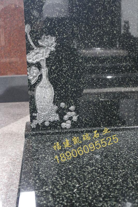 湖南墓碑厂家直销公墓艺术墓碑 印度绿艺术墓碑 豪华墓碑可定制示例图4