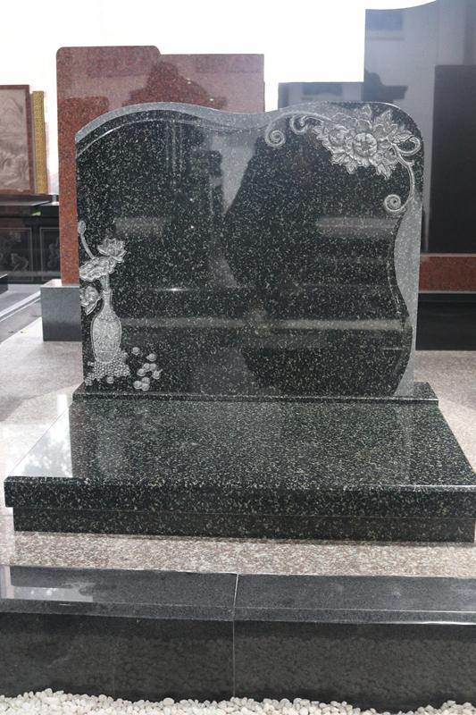 湖南墓碑厂家直销公墓艺术墓碑 印度绿艺术墓碑 豪华墓碑可定制示例图6