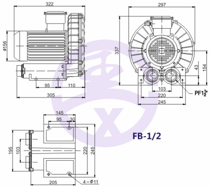 直銷旋渦防爆高壓風機 RB環形高壓鼓風機  耐高溫高壓風機 旋渦防爆風機示例圖5