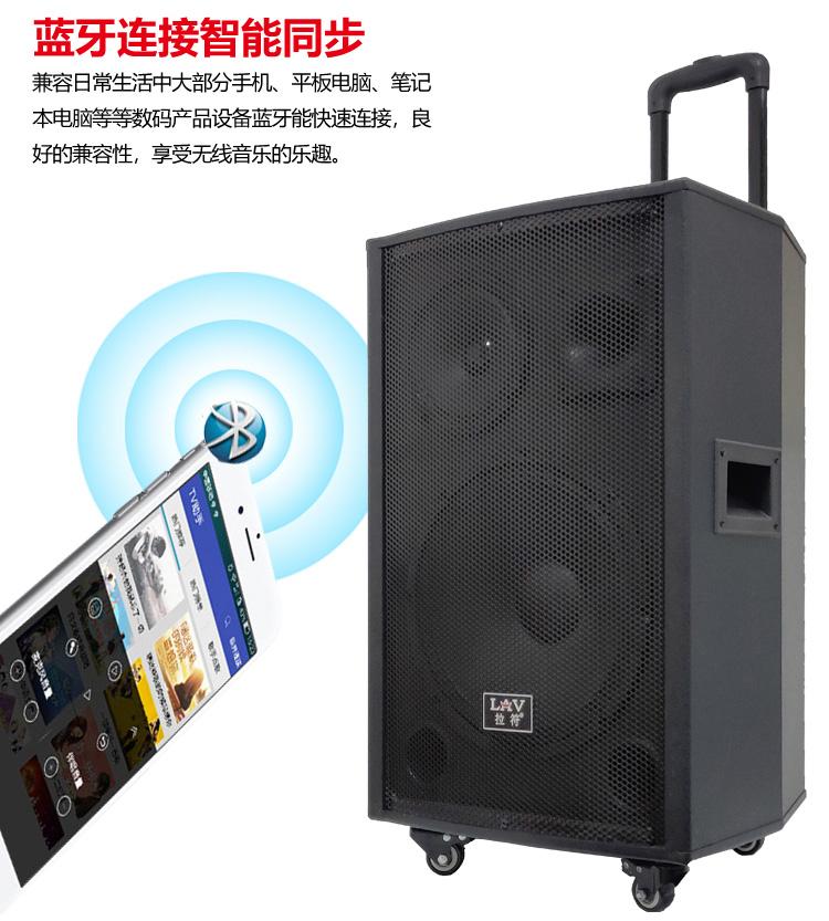 拉符 6012 广场舞音响12寸大功率电瓶户外移动收音拉杆蓝牙音箱 一件代发示例图1