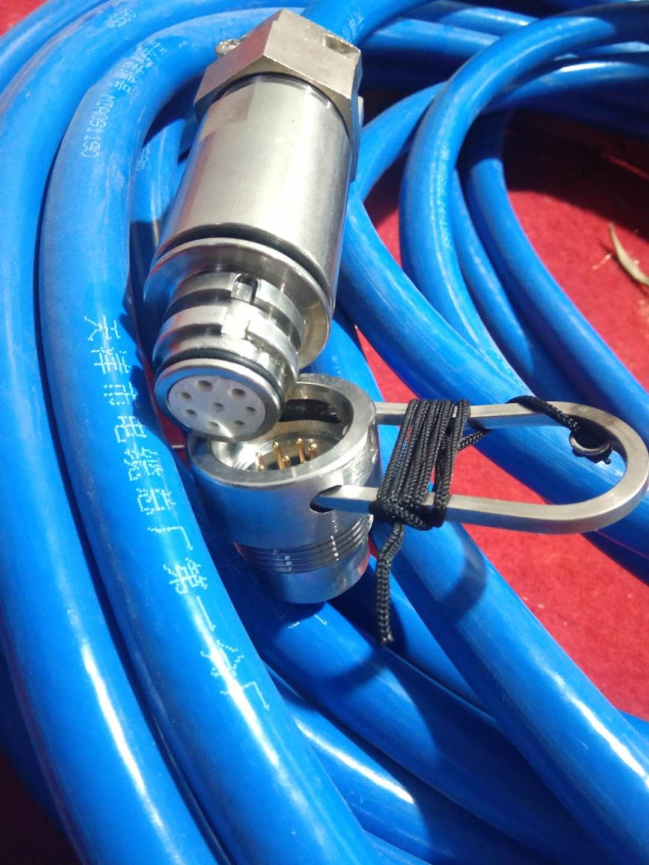 矿用五芯拉力电缆 MHYBV-5拉力电缆 带插头矿用五芯拉力电缆示例图1