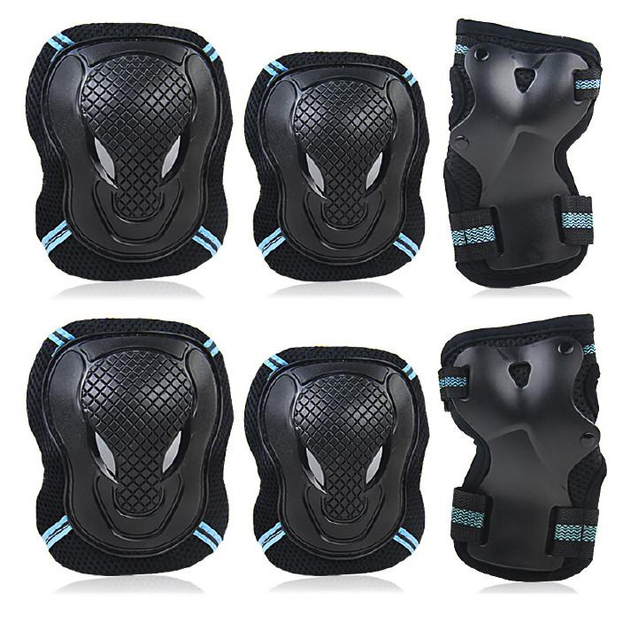 加厚牛頭護具 輪滑護具健身運動護具6件套保護護具溜冰鞋滑板護具