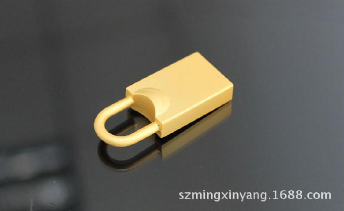 創意禮品U盤 私模U盤 小巧鎖形U盤 小鎖具型U盤外殼 迷你金屬U盤圖片