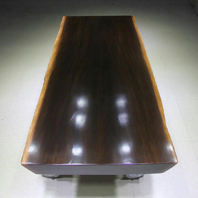 厂家直销黑檀大板现代简约办公家具茶桌 实木 老板桌福建现货批发