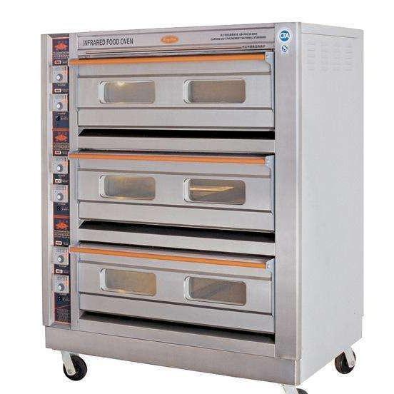 恒联GL-6A不锈钢三层六盘电烤箱带可视窗 酒店?#27807;?#38754;点间专用烘焙设备