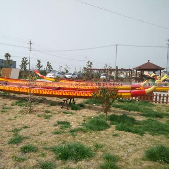 龍舟船 木質龍舟比賽專用 木質包玻璃鋼龍舟