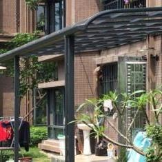 定制鋁合金遮陽棚 戶外雨搭 陽臺遮雨篷 透明陽光板遮陽蓬