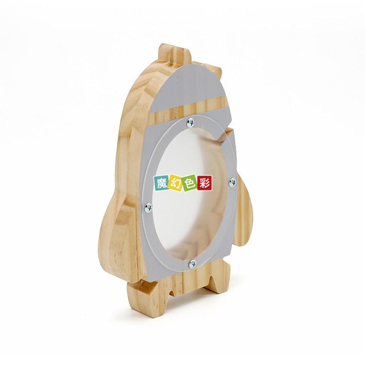 可爱创意儿童木质存钱罐 火箭储钱罐生日节日礼品摆件玩具厂家