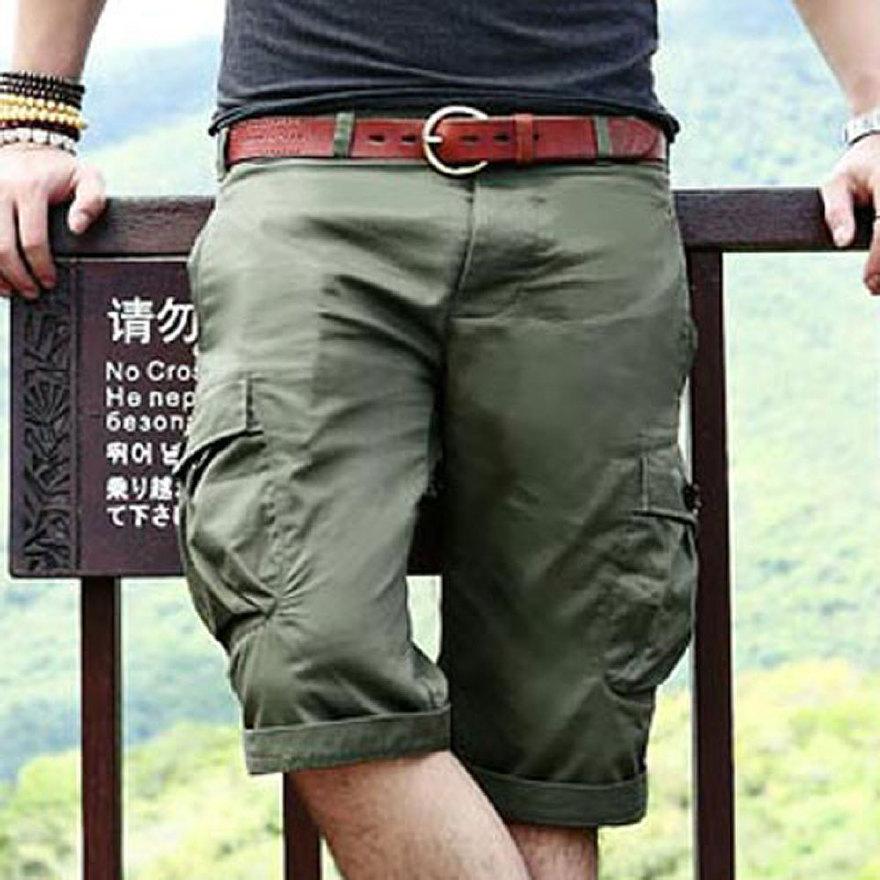 男装 工装休闲短裤 男士大码中裤男 韩版五分裤 夏装马裤男潮图片