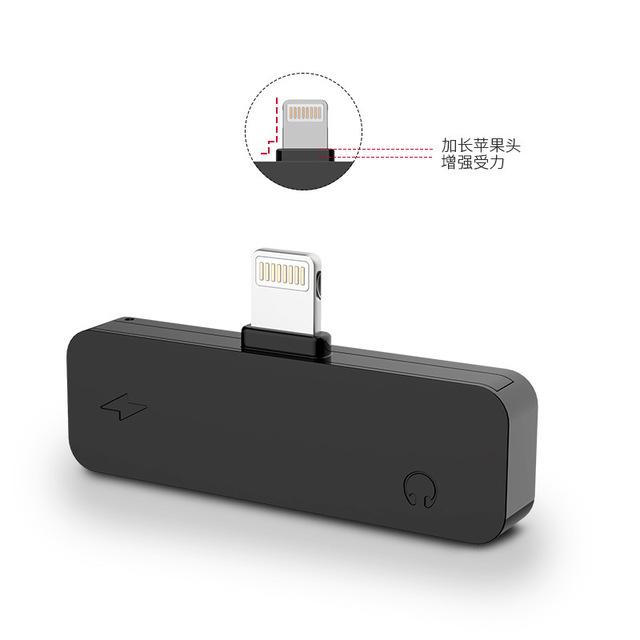 新款适用于苹果iphone7/xsm耳机转接头 充电听歌支架三合一转接线
